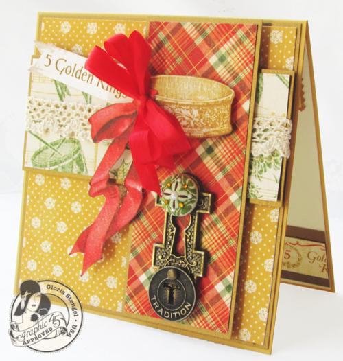 Graphic 45 Gloria Stengel card 12 Days of Christmas holiday gift tutorials