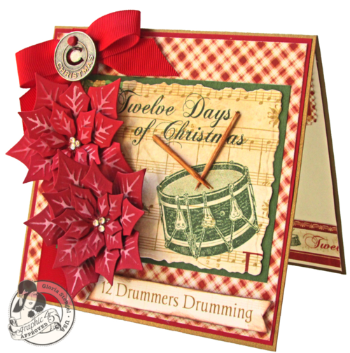 Graphic 45 12 Days of Christmas card tutorial Gloria Stengel holiday gift