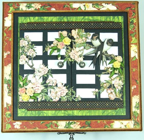 Bird Song altered box Graphic 45 Andrew Roberts mini album
