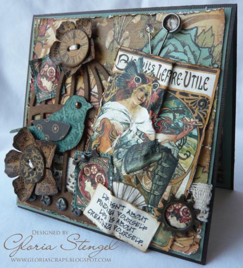 Graphic 45 card Steampunk Debutante Gloria Stengel