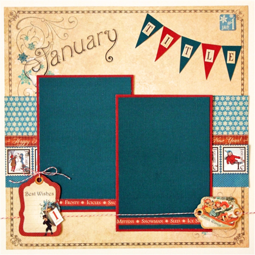 Graphic 45 Robin Shakoor Place in Time January Layout