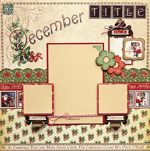 Graphic 45 Place in Time December layout robin Shakoor