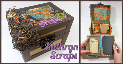 Kathryn Steampunk Spells Soiree chest box Graphic 45