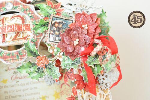 Maiko Miwa Graphic45 Matchbookbox 12days of Christmas frame deco#3