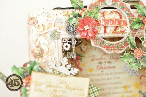 Maiko Miwa Graphic45 Matchbookbox 12days of Christmas frame deco#4