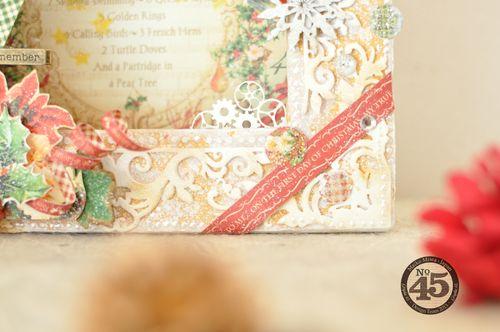 Maiko Miwa Graphic45 Matchbookbox 12days of Christmas frame deco#5