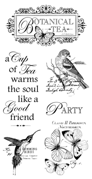 Botanical Tea cling stamp Graphic 45 Sneak Peek