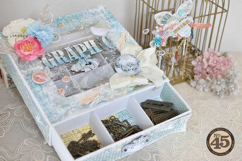 Maiko Miwa Graphic 45 Matchbook box SecretGarden Storage box#3