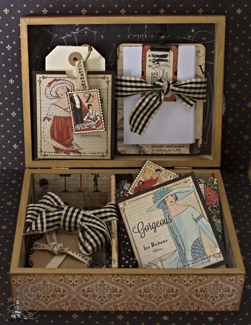 Graphic 45 Couture altered box, card, tag, Tati Scrap Facebook
