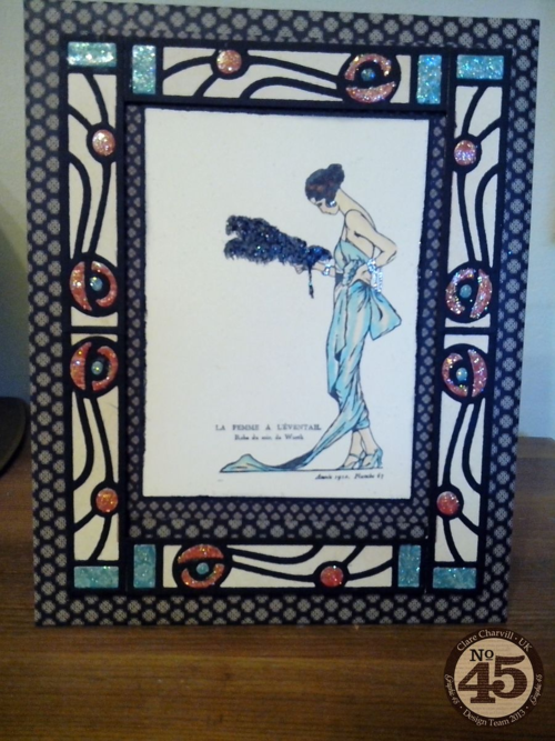 CHA 2014 Clare Charvill Couture Art Deco Picture Frame Graphic 45