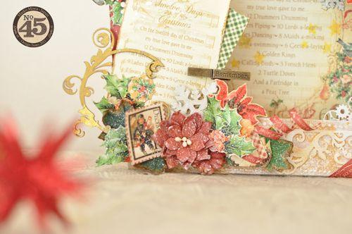 Maiko Miwa Graphic45 Matchbookbox 12days of Christmas frame deco#2