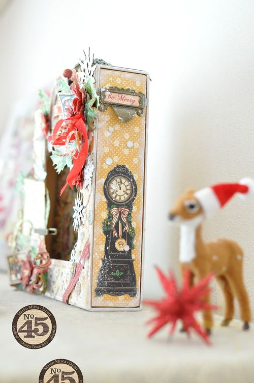 Maiko Miwa Graphic45 Matchbookbox 12days of Christmas frame deco#6