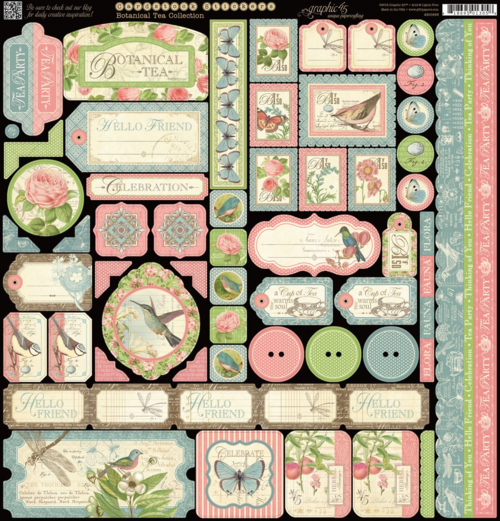 Botanical Tea Stickers New Graphic 45 sneak peeks