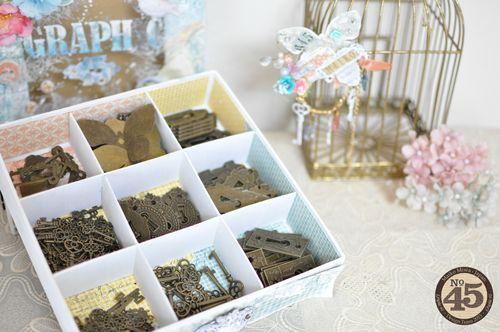 Maiko Miwa Graphic 45 Matchbook box SecretGarden Storage box#2