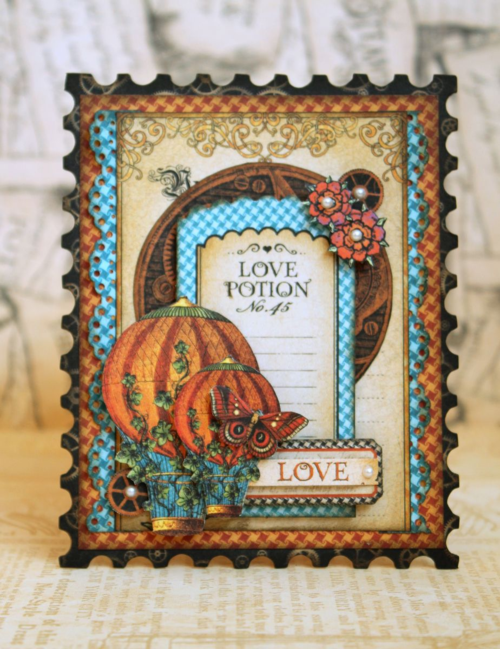 Graphic 45 Romy Veul Sweet Sentiments love card