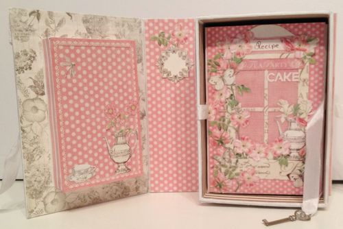 BOTANICAL TEA-GRAPHIC 45-G45-MINI ALBUM-RECIPE-BOOK-BOX-PHOTO-ALBUM-BINDING-CREATE-ANNESPAPERCREATIONS-KREATIV SCRAPPING- 4