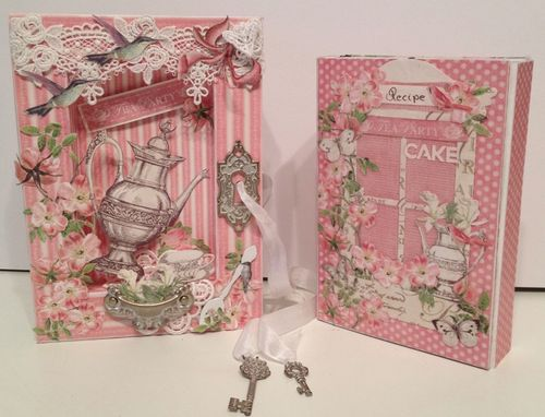 BOTANICAL TEA-GRAPHIC 45-G45-MINI ALBUM-RECIPE-BOOK-BOX-PHOTO-ALBUM-BINDING-CREATE-ANNESPAPERCREATIONS-KREATIV SCRAPPING- 5