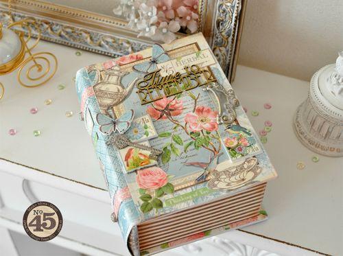Maiko Miwa Graphic45 Botanical Tea Altered Bookbox#2
