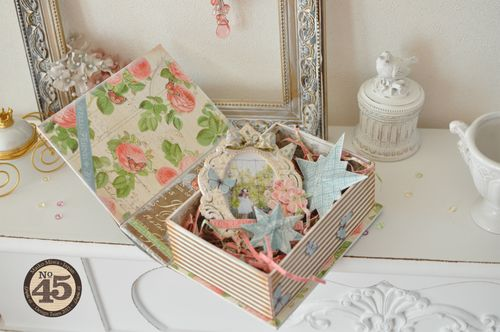 Maiko Miwa Graphic45 Botanical Tea Altered Bookbox#3