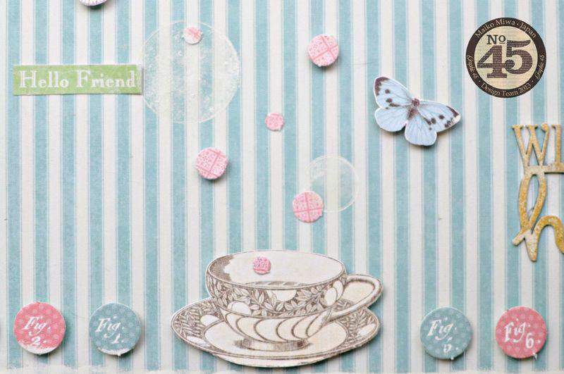 Maiko Miwa Graphic45 Botanical Tea layout #4