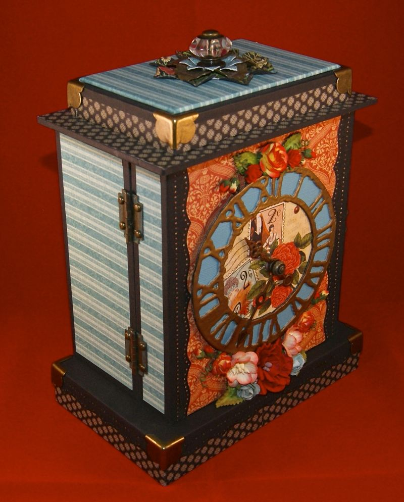 Couture Mantle Clock Front