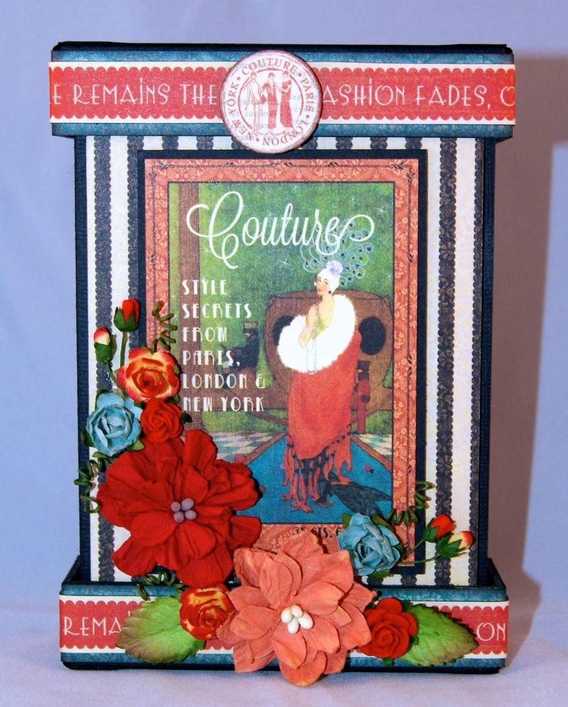 Couture Mantle Clock Mini Album Front