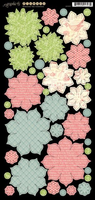 Botanical Tea cardstock flowers sneak peek Graphic 45