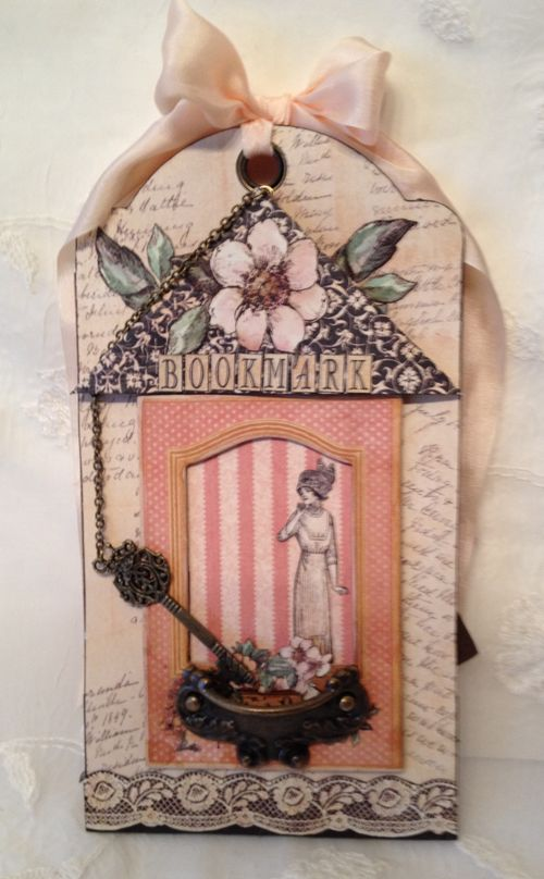 A LADIES DIARY - TAG STAPLES - GRAPHIC 45 - PHOTO DISPLAY - MINI AØBUM - ANNESPAPERCREATIONS - KREATIV SKRAPPING -  4