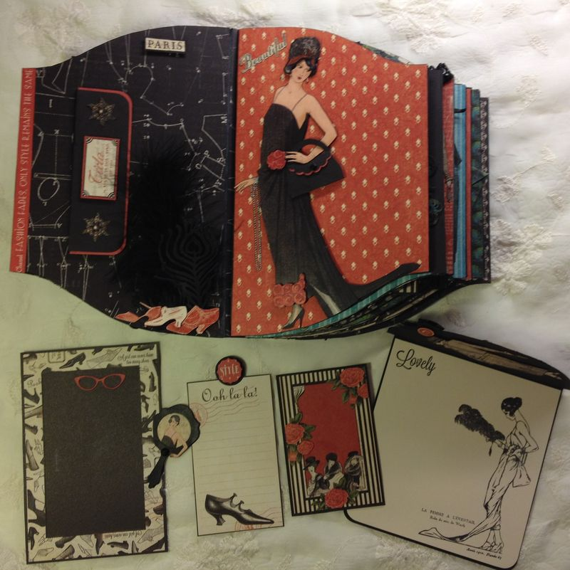 COUTURE-GRAPHIC 45-NINIALBUM-PURSE-CARD-TAG-BOX-TUTORIAL-ANNESPAPERCREATIONS-ANNE ROSTAD-KREATIV SCRAPPING-SCRAPBOOKING-CRAFT- 6