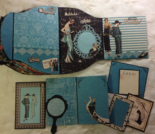 COUTURE-GRAPHIC 45-NINIALBUM-PURSE-CARD-TAG-BOX-TUTORIAL-ANNESPAPERCREATIONS-ANNE ROSTAD-KREATIV SCRAPPING-SCRAPBOOKING-CRAFT- 12