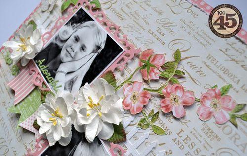 Graphic-45_Botanical-tea_layout_April national scrapbook blog_karen shady