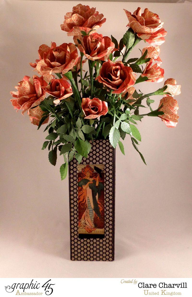Art Deco Vase of Roses Clare Charvill Ambassador UK 1