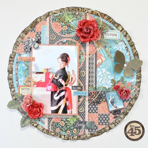 Maiko Miwa Graphic45 Couture layout#1