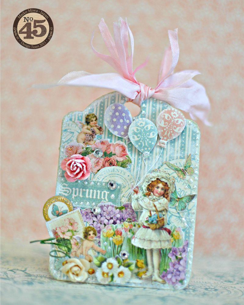 Maiko Miwa Graphic45 Sweet Sentiments ATC #1
