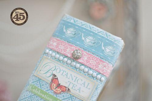 Maiko Miwa Graphic45 Botanical Tea Altered Bookbox#9
