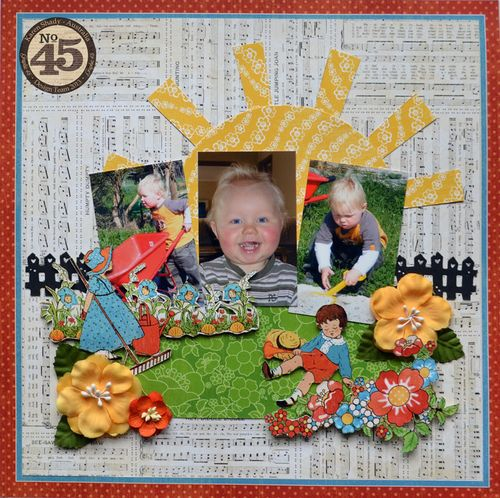 Graphic 45_ Mother goose layout_March family friendly step x step, karen Shady