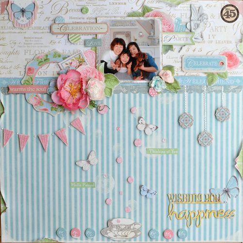 Maiko Miwa Graphic45 Botanical Tea layout #1