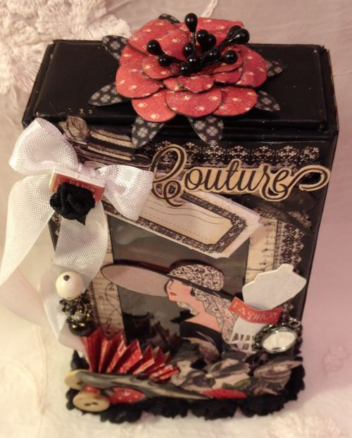 GRAPHIC 45-MINI ALBUM-CARD-ATC-COUTURE - SWEET SENTIMENTS - SECRET GARDEN-TUTORIAL-ANNESPAPERCREATIONS-ANNE ROSTAD-KREATIV SCRAPPING-CALENDAR- 1