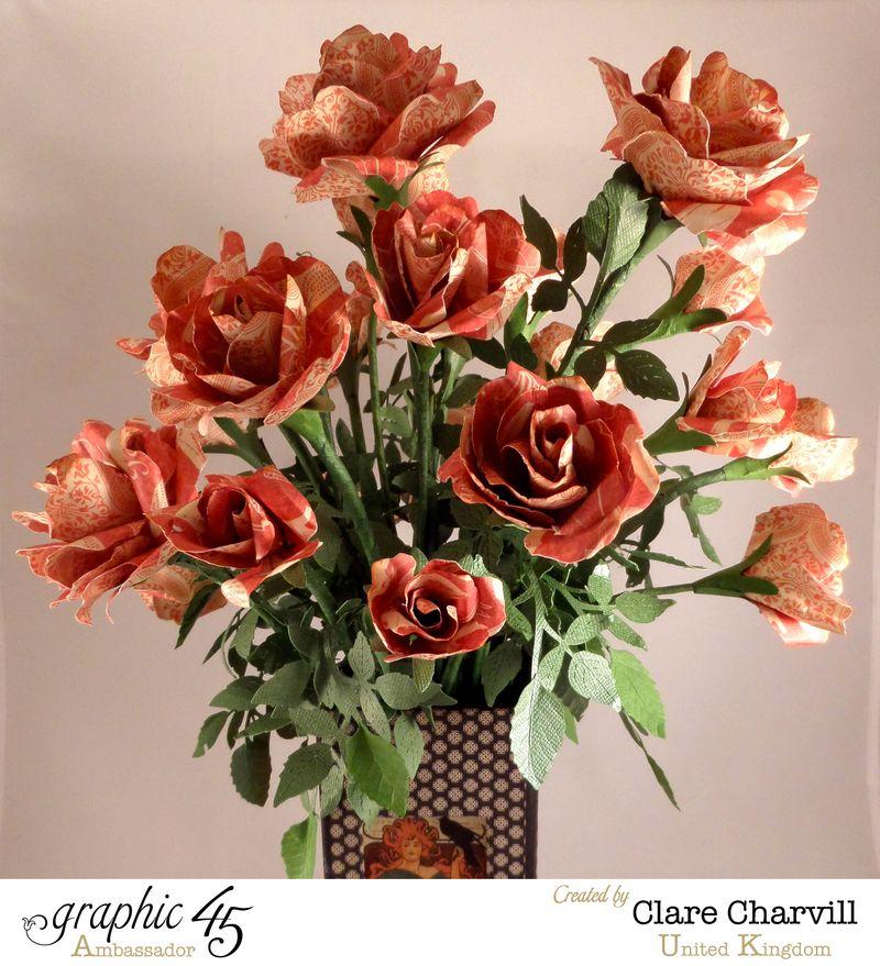 Art Deco Vase of Roses Clare Charvill Ambassador UK 2
