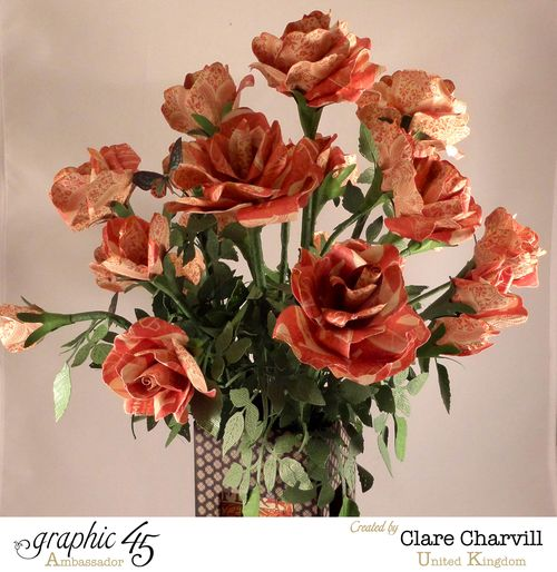 Art Deco Vase of Roses Clare Charvill Ambassador UK 1