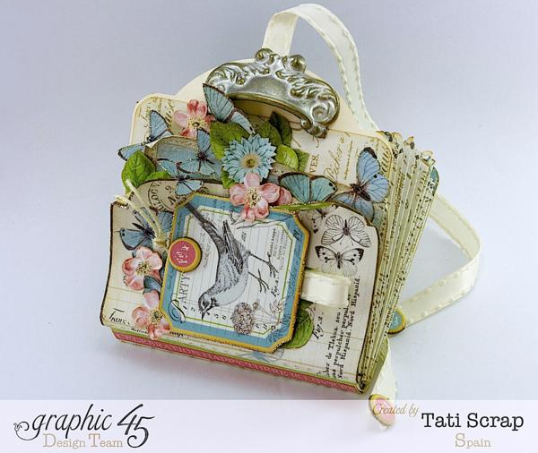 Tati Scrap Botanical Tea birthday reminder book Graphic 45