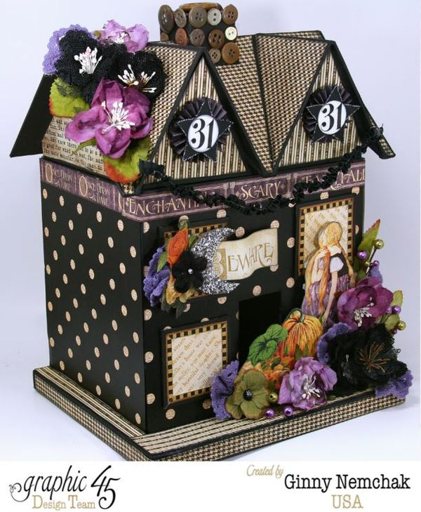 Petaloo Blog Hop Halloween House 1