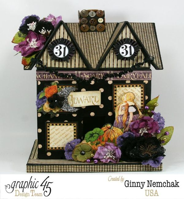Petaloo Blog Hop Halloween House 1