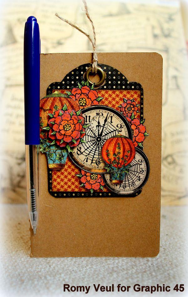 Steampunk Spells notebook