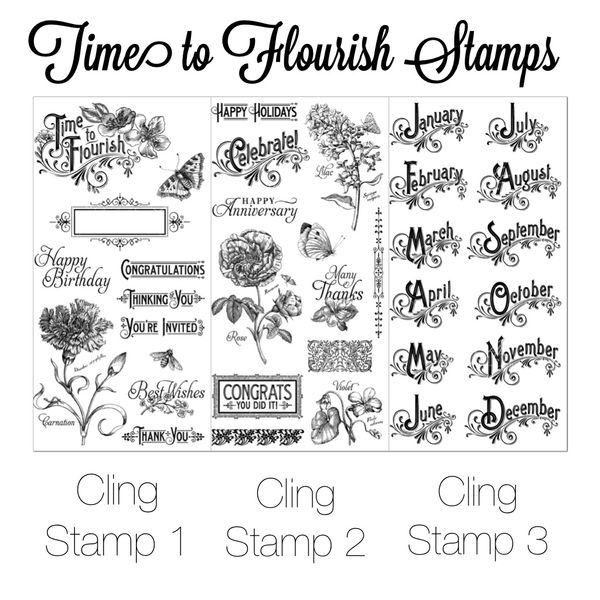TimetoFlourishClingStamps