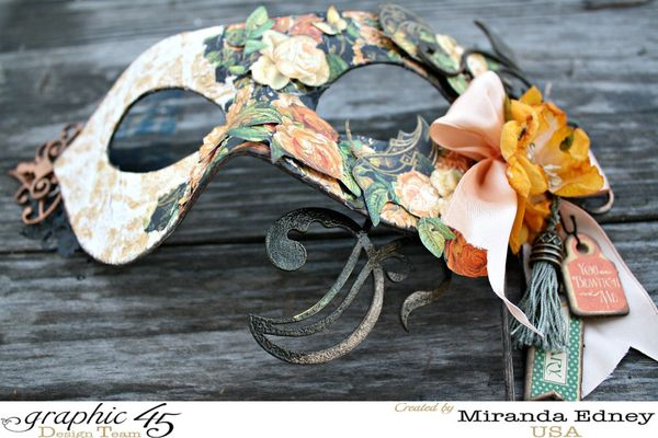 masquerade mask designed with stationary and scrapbooking supplies