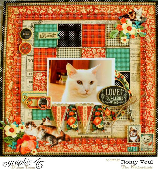 Raining Cats & Dogs lay-out Romy Veul 1