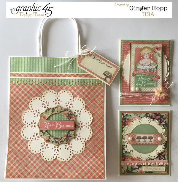 G45 Time to Celebrate Gift Bag and Matching Cards