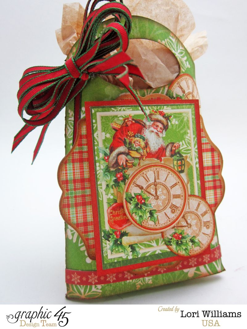 Twas the night before christmast graphic 45 lori williams mini bag