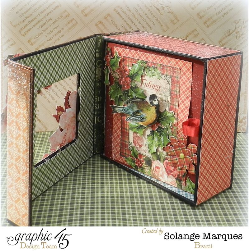 Graphic 45- Core dinations Cardstock- 12 days of Christmas Collection-mini album (2)